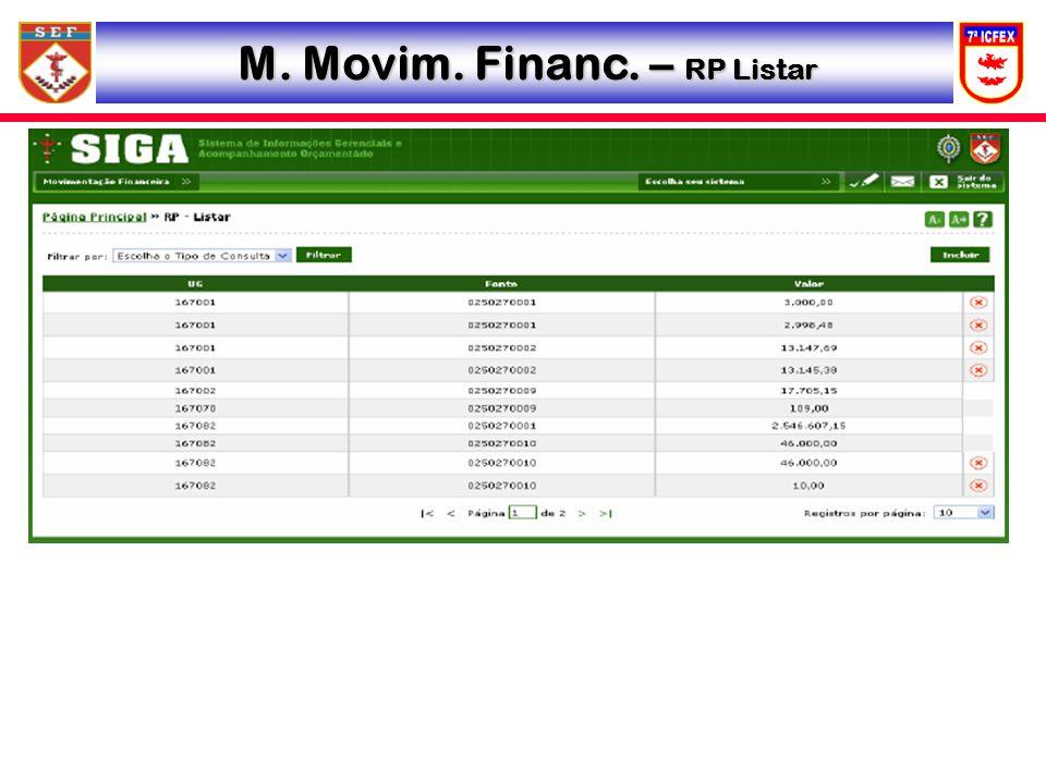 M. Movim. Financ. – RP Listar