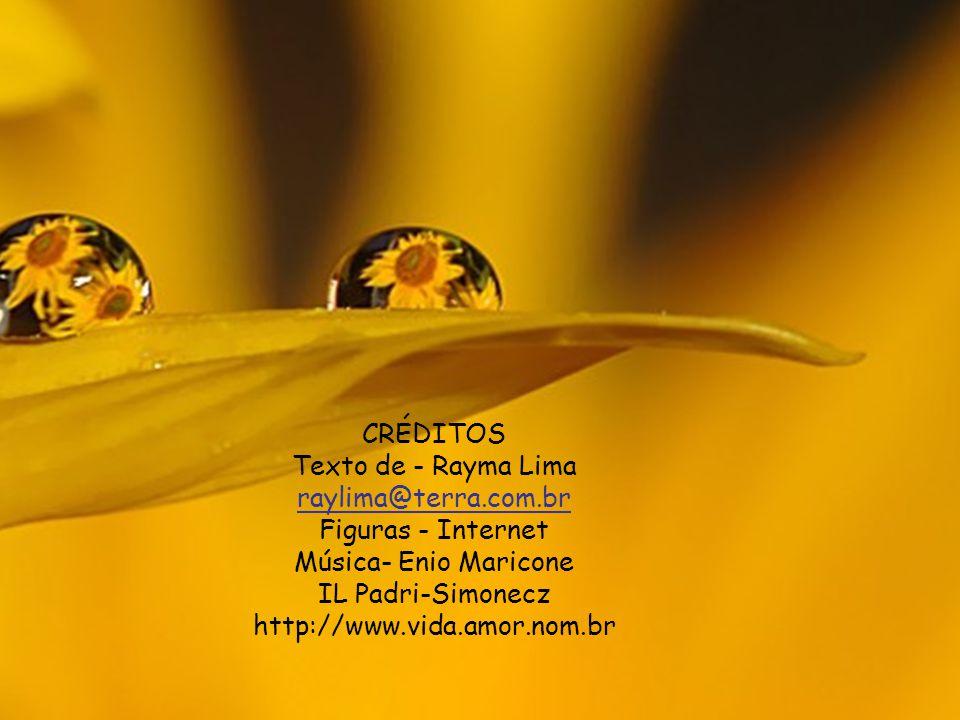 CRÉDITOS Texto de - Rayma Lima raylima@terra.com.br Figuras - Internet Música- Enio Maricone IL Padri-Simonecz http://www.vida.amor.nom.br