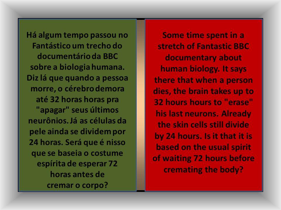 AH! CREMAÇÃO NO ESPIRITISMO AH! CREMATION IN SPIRITISM