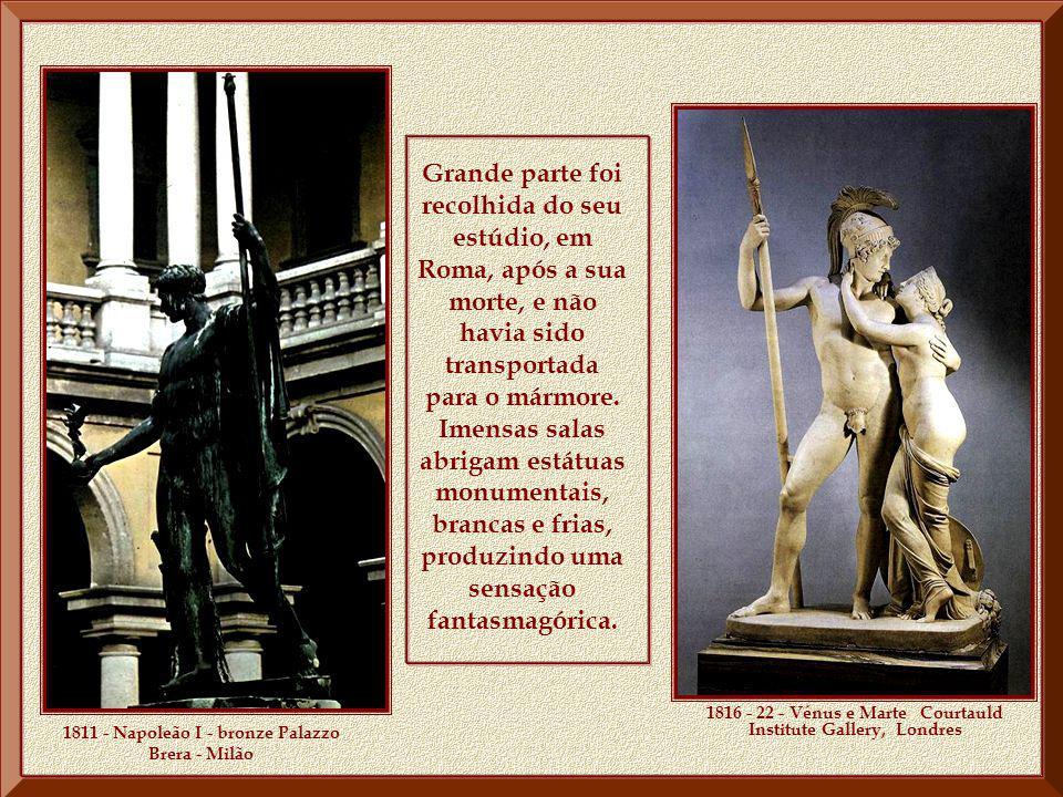 Na cidade de Possagno, província de Treviso onde nasceu, a casa de Canova, transformada em Tempio Canoviano, apresenta um conjunto de obras que formam