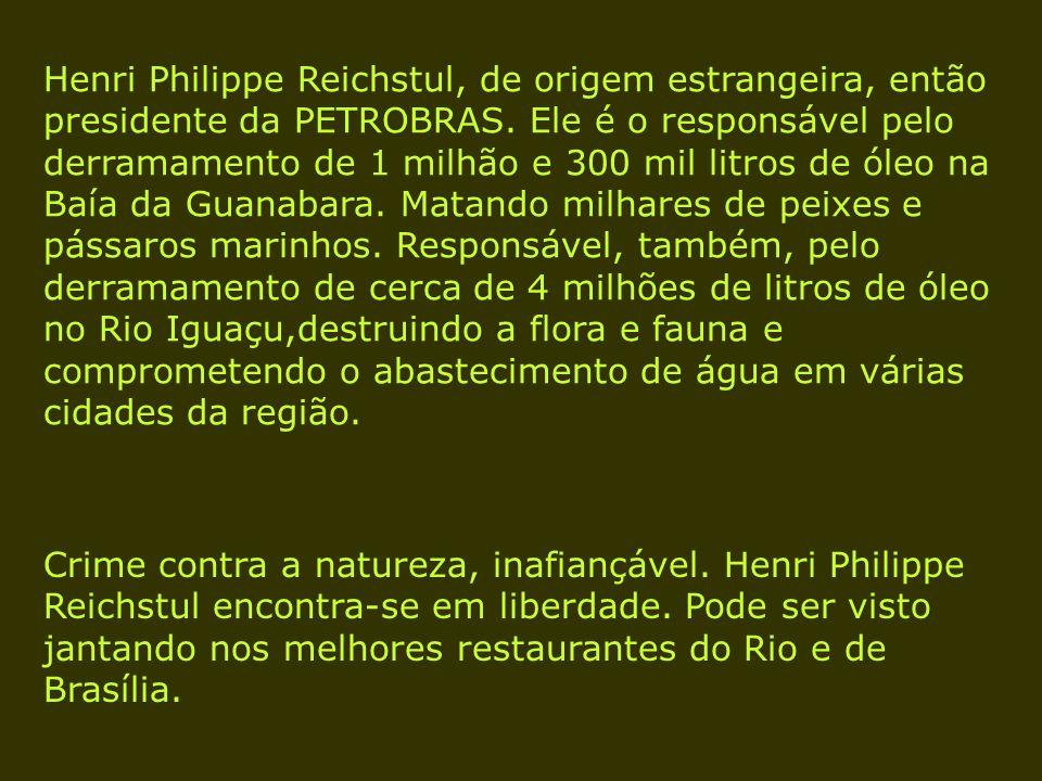 Henri Philippe Reichstul, de origem estrangeira, então presidente da PETROBRAS.