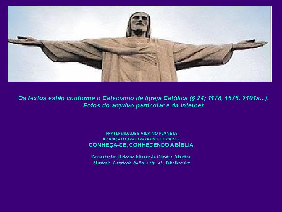 FRATERNIDADE E VIDA NO PLANETA A CRIAÇÃO GEME EM DORES DE PARTO CONHEÇA-SE, CONHECENDO A BÍBLIA Formatação: Diácono Eliezer de Oliveira Martins Musica