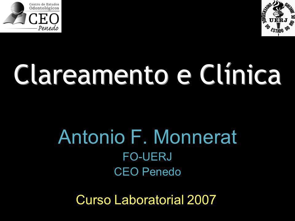 Clareamento e Clínica Antonio F. Monnerat FO-UERJ CEO Penedo Antonio F. Monnerat FO-UERJ CEO Penedo Curso Laboratorial 2007