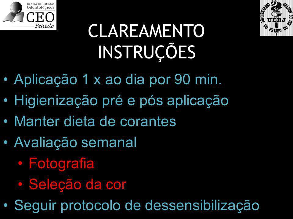 CLAREAMENTO INSTRUÇÕES Aplicação 1 x ao dia por 90 min.
