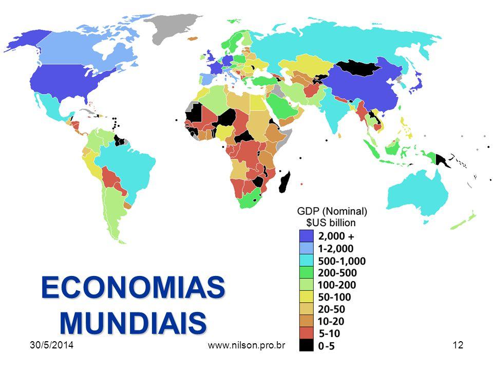 ECONOMIAS MUNDIAIS 30/5/201412www.nilson.pro.br