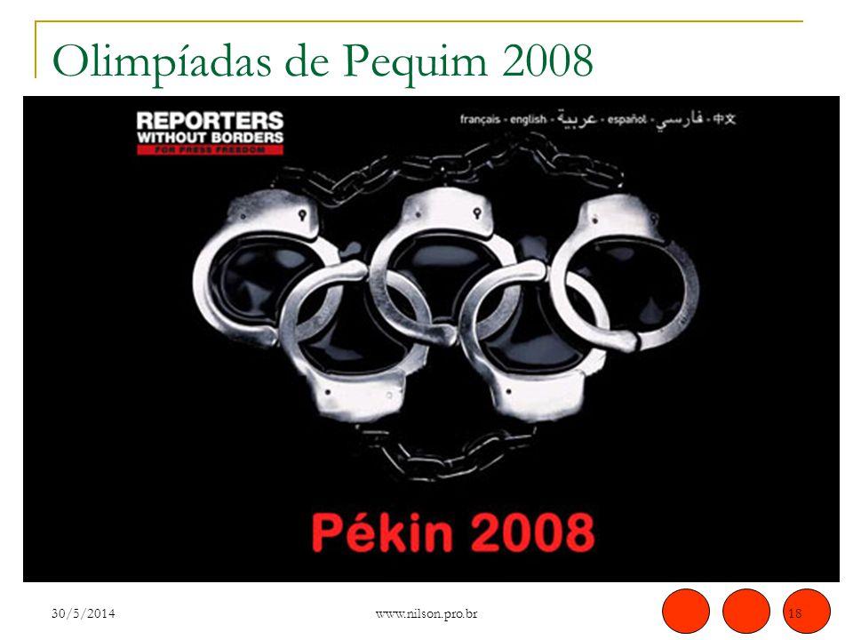 Olimpíadas de Pequim 2008 30/5/201418 www.nilson.pro.br