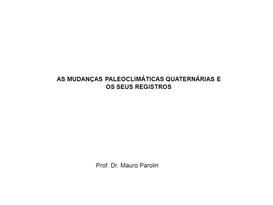 AS MUDANÇAS PALEOCLIMÁTICAS QUATERNÁRIAS E OS SEUS REGISTROS Prof. Dr. Mauro Parolin