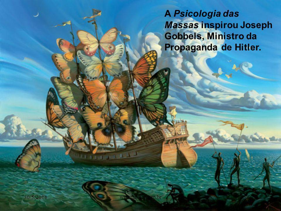 A Psicologia das Massas inspirou Joseph Gobbels, Ministro da Propaganda de Hitler.