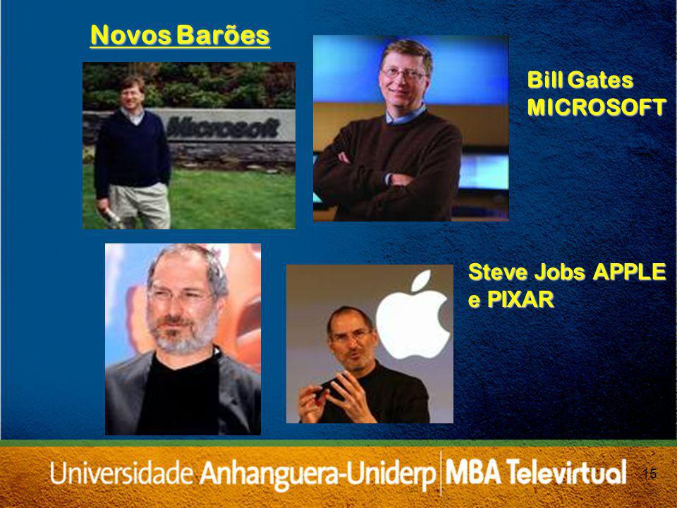 15 Bill Gates MICROSOFT Novos Barões Steve Jobs APPLE e PIXAR