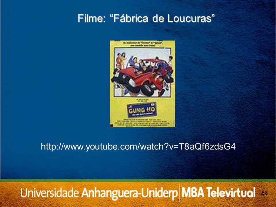 56 Filme: Fábrica de Loucuras http://www.youtube.com/watch?v=T8aQf6zdsG4