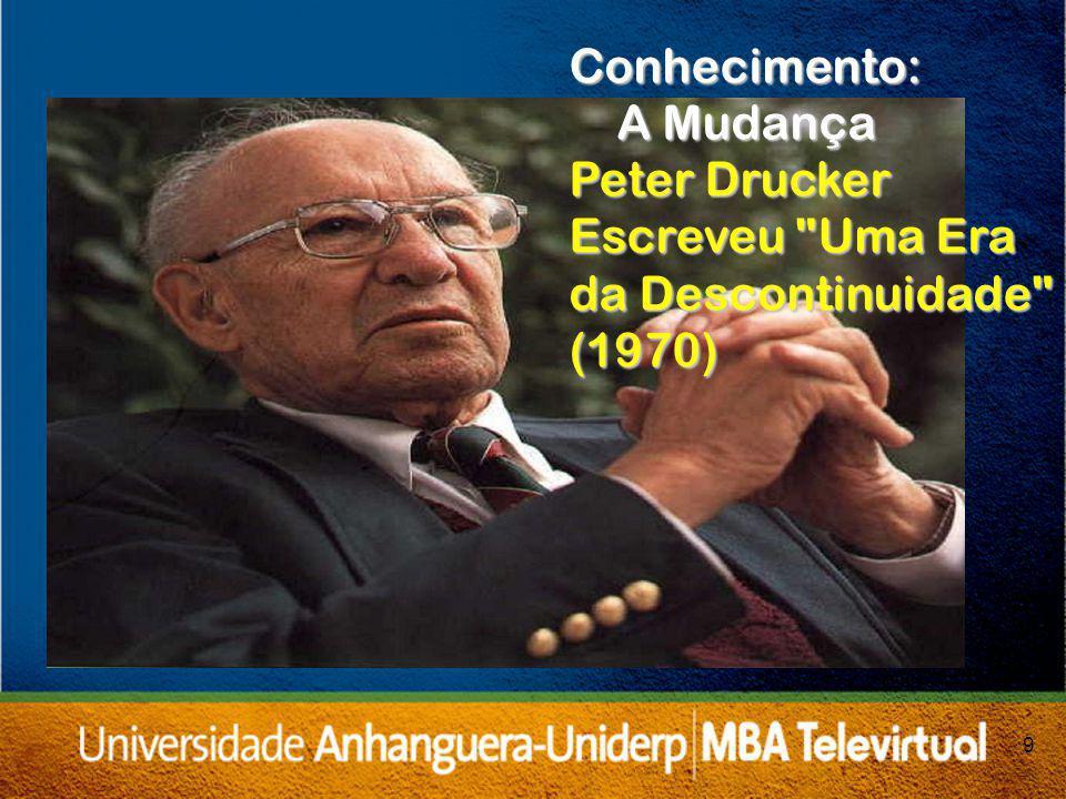 9 Conhecimento: A Mudança Peter Drucker Escreveu Uma Era da Descontinuidade (1970)