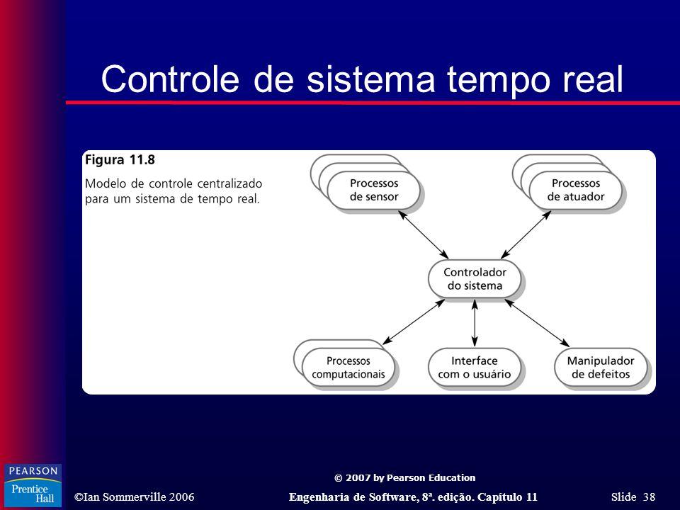 © 2007 by Pearson Education ©Ian Sommerville 2006Engenharia de Software, 8ª. edição. Capítulo 11 Slide 38 Controle de sistema tempo real