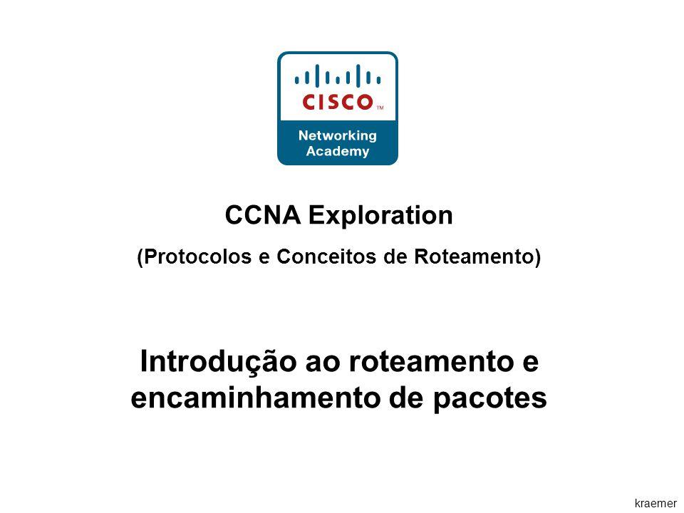 kraemer CCNA Exploration (Protocolos e Conceitos de Roteamento) Introdução ao roteamento e encaminhamento de pacotes