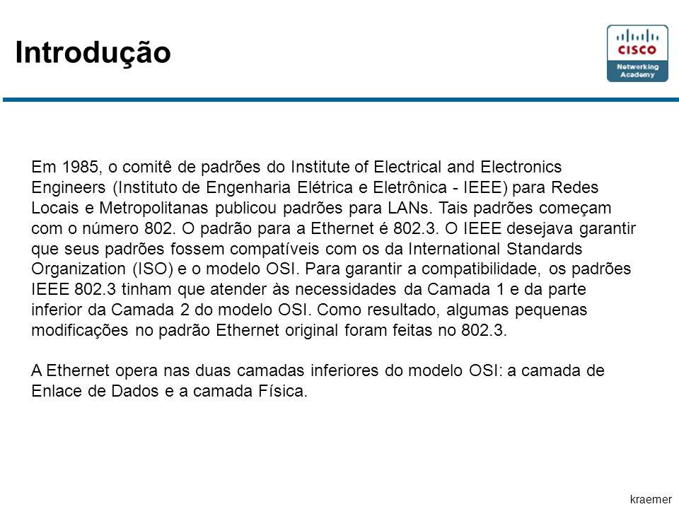 kraemer Introdução Em 1985, o comitê de padrões do Institute of Electrical and Electronics Engineers (Instituto de Engenharia Elétrica e Eletrônica -