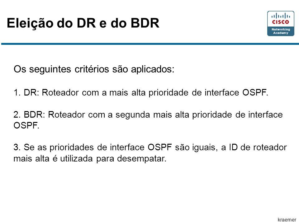 kraemer Eleição do DR e do BDR Os seguintes critérios são aplicados: 1.
