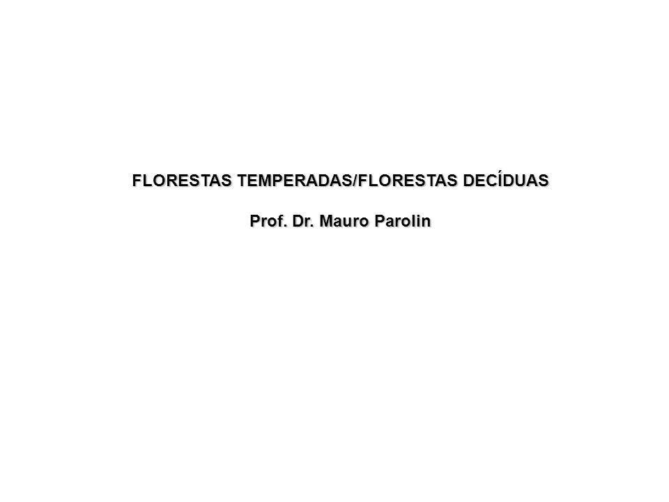 Floresta Temperadas é um bioma encontrado nas regiões situadas entre os pólos e os trópicos, característica das zonas temperadas úmidas e abrange o oeste e centro da Europa, leste da Ásia (Coréia, Japão, e partes da China) e o leste dos Estados Unidos.