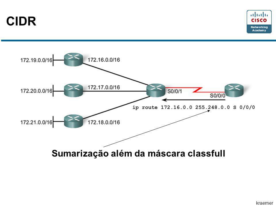 kraemer CIDR Sumarização além da máscara classfull