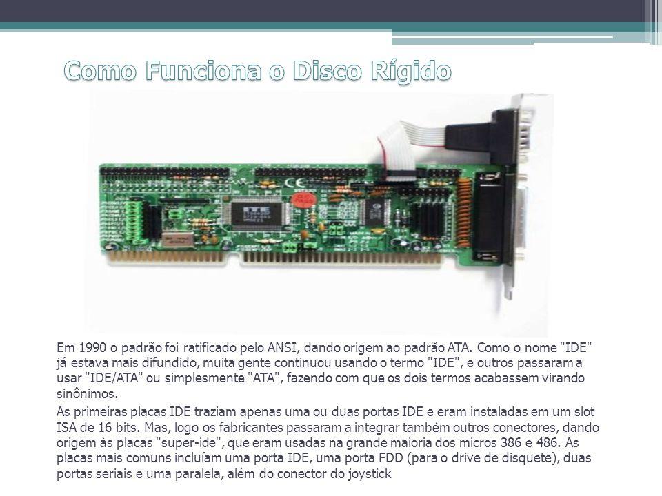Em 1990 o padrão foi ratificado pelo ANSI, dando origem ao padrão ATA. Como o nome