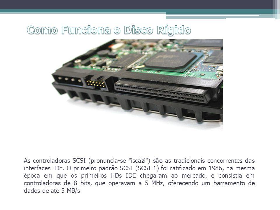 As controladoras SCSI (pronuncia-se