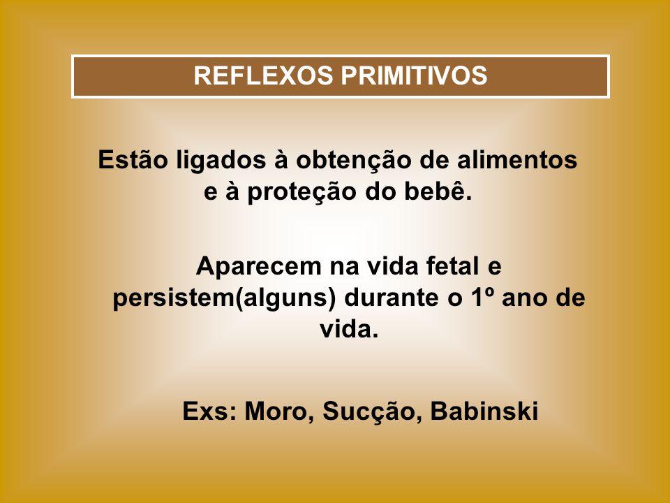 REFLEXOS POSTURAIS Estão ligados à manutenção da posição ereta.