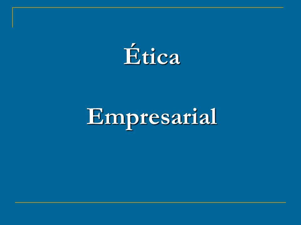 INTRODUÇÃO A ética empresarial trata de questões sobre práticas empresariais aceitas ou não nas organizações.