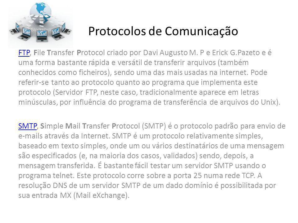 Protocolos de Comunicação FTPFTP, File Transfer Protocol criado por Davi Augusto M. P e Erick G.Pazeto e é uma forma bastante rápida e versátil de tra