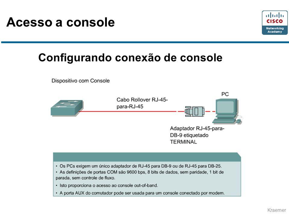 Kraemer Configurando conexão de console Acesso a console