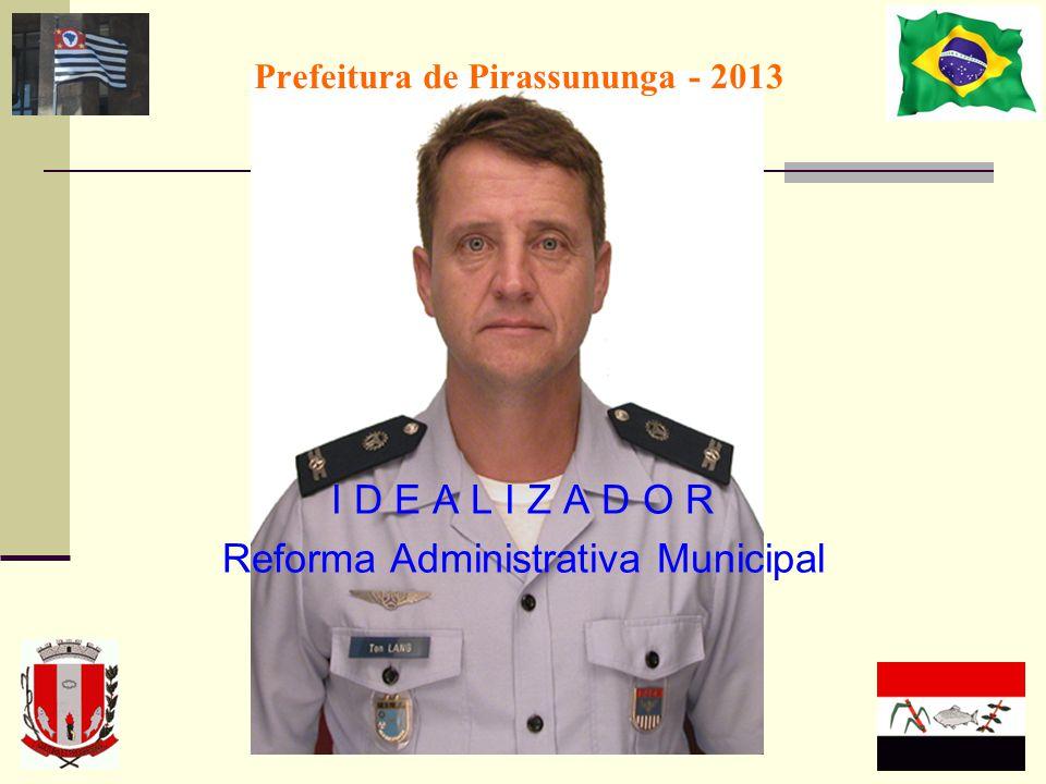 Prefeitura de Pirassununga - 2013 I D E A L I Z A D O R Reforma Administrativa Municipal