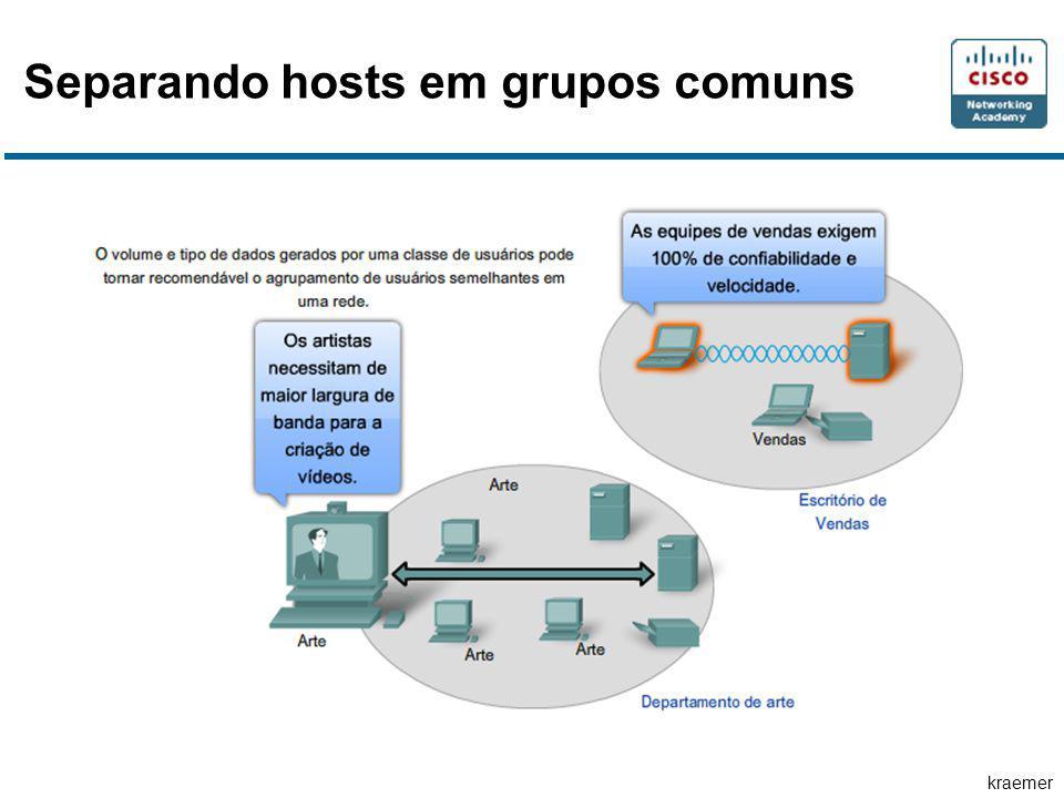 kraemer Separando hosts em grupos comuns