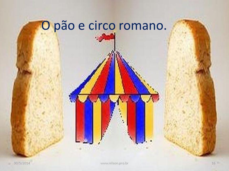 O pão e circo romano. 30/5/201416www.nilson.pro.br