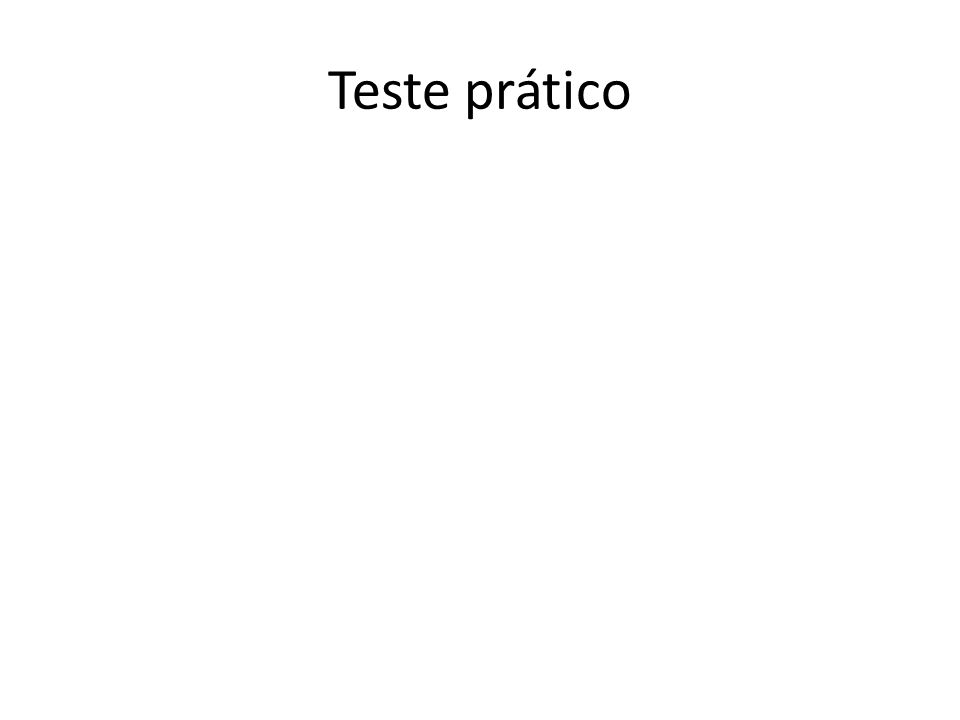Teste prático