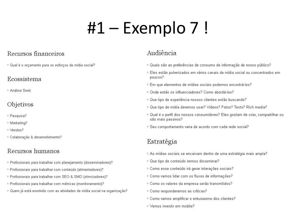 #1 – Exemplo 7 !