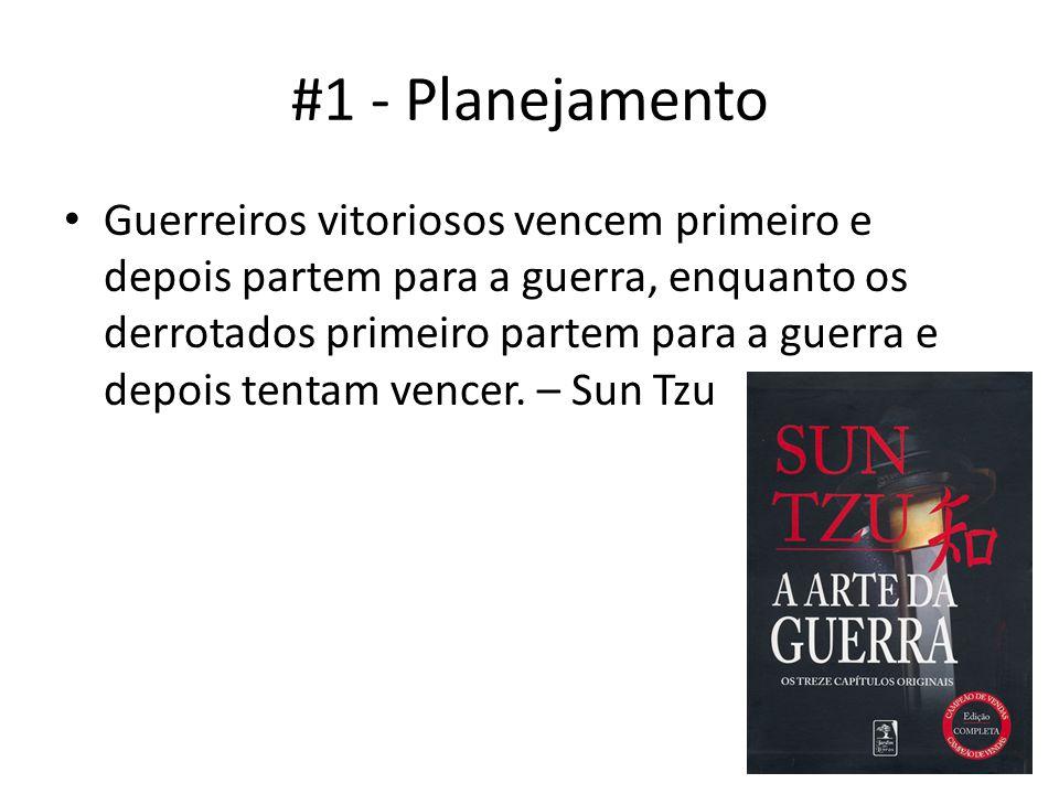 #1 - Planejamento Guerreiros vitoriosos vencem primeiro e depois partem para a guerra, enquanto os derrotados primeiro partem para a guerra e depois tentam vencer.