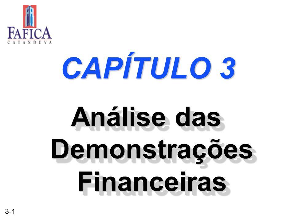 3-1 CAPÍTULO 3 Análise das Demonstrações Financeiras
