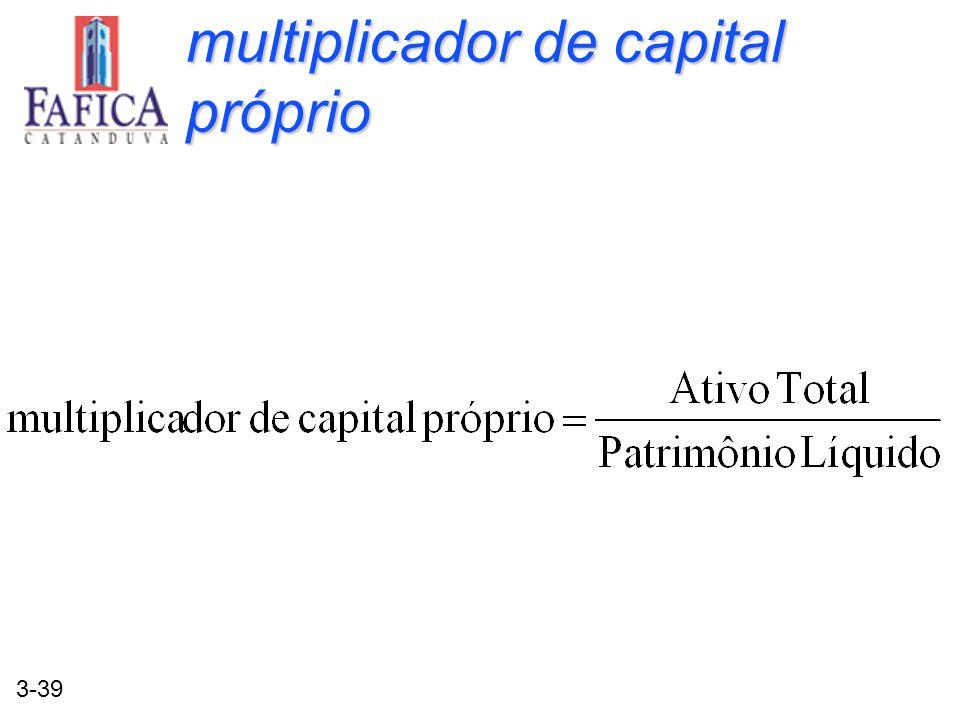 3-39 multiplicador de capital próprio