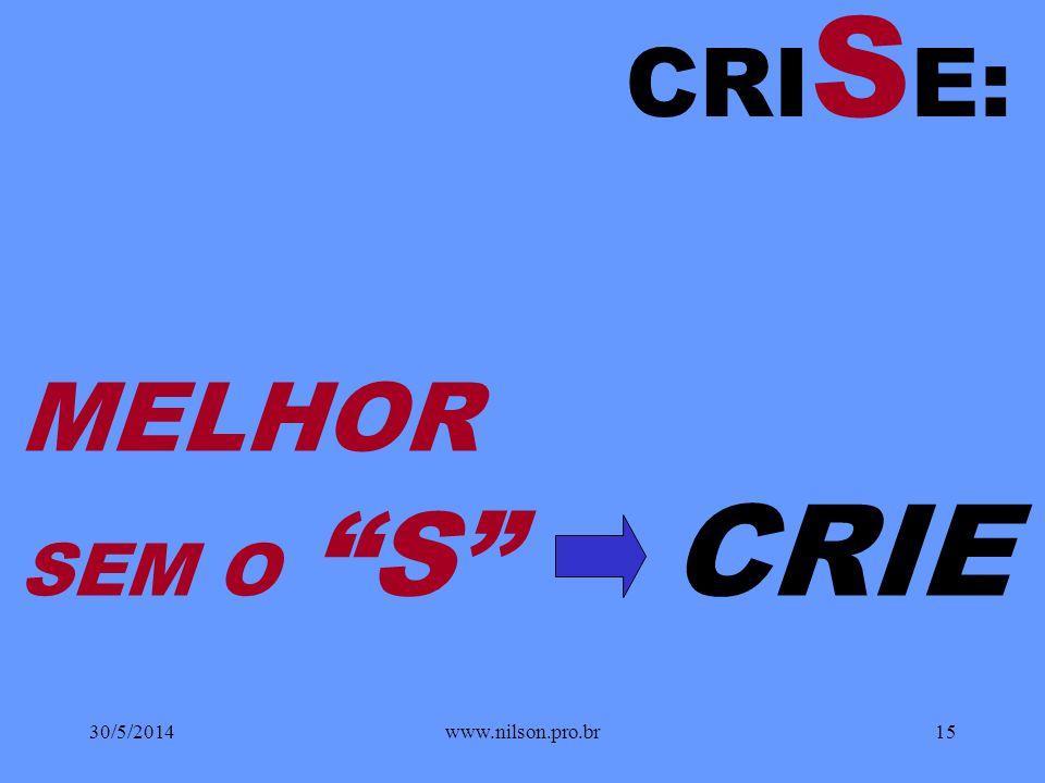 É BRASIL! 30/5/201414www.nilson.pro.br