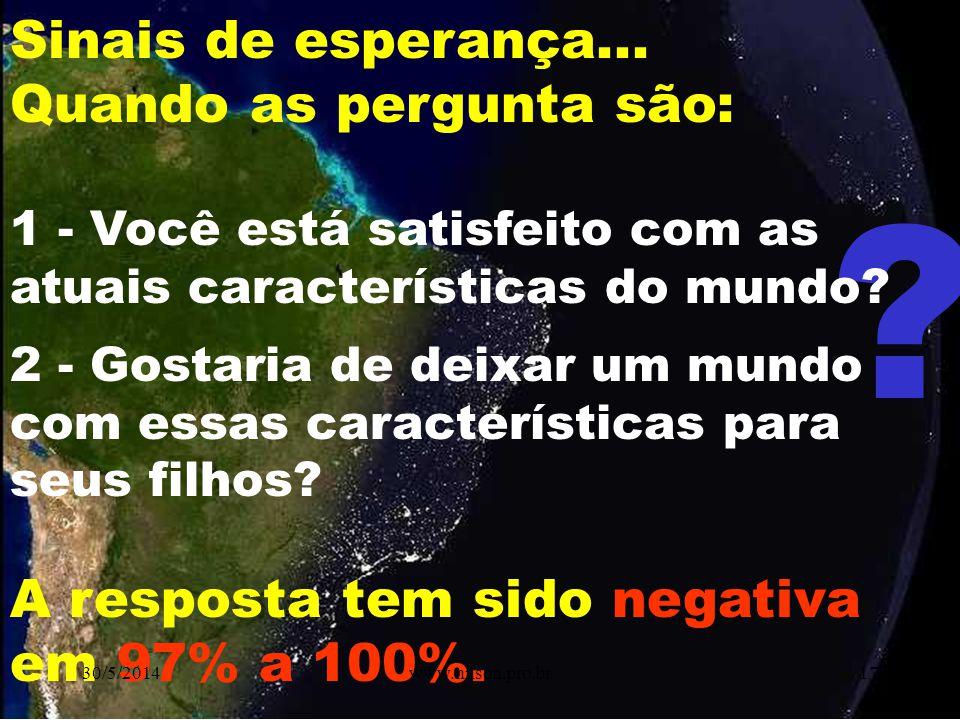 ÉTICA & MUDANÇA GERA CRISE OPORTUNIDADE AMEAÇA 30/5/201416www.nilson.pro.br