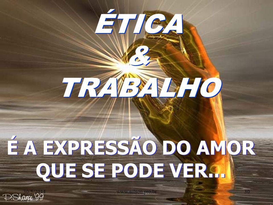 PE SS OA S QUE MOTIVOS NOS FAZEM AGIR? PRINCÍPIO DO PRAZER SATISFAÇÃO 30/5/201429www.nilson.pro.br