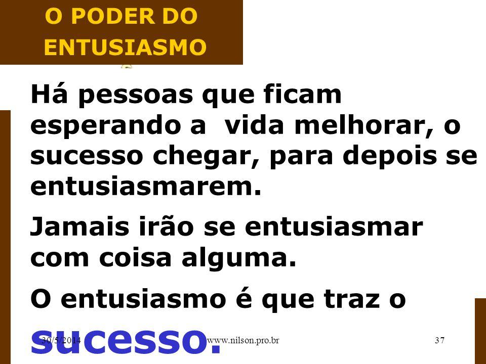 II ORGANIZAR E DIRIGIR SUA PRÓPRIA HISTÓRIA II 30/5/201436www.nilson.pro.br