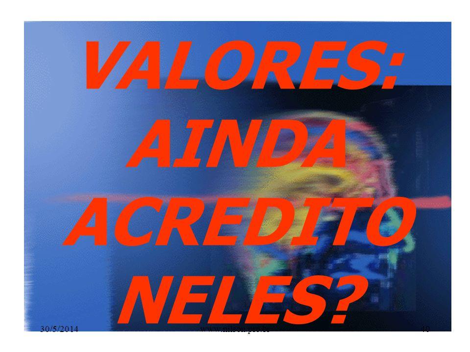 IV ADMINISTRAR COM ENTUSIASMO OS VALORES NECESSÁRIOS AO BEM ESTAR DE SUA PROFISSÃO 30/5/201439www.nilson.pro.br