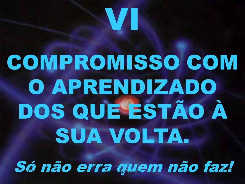 V VIVENCIAR E SUPERAR CONFLITOS ÉTICOS DA PROFISSÃO 30/5/201441www.nilson.pro.br
