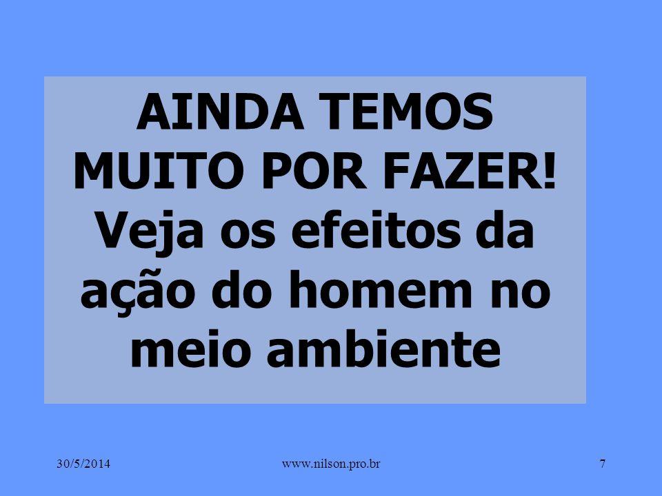 NA CONTRAMÃO DA TECNOLOGIA O ESTRAGO SOCIAL E AMBIENTAL 30/5/20146www.nilson.pro.br