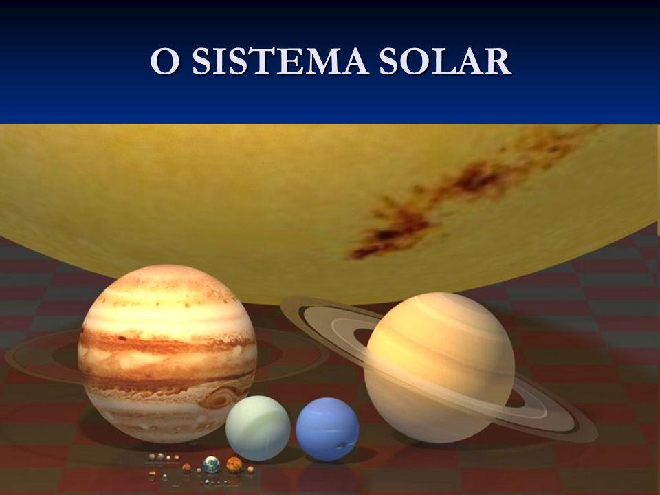URANO TEMPERATURA MÉDIA: - 193 o C.ATMOSFERA: hidrogênio, hélio e metano (o metano dá a cor azul).