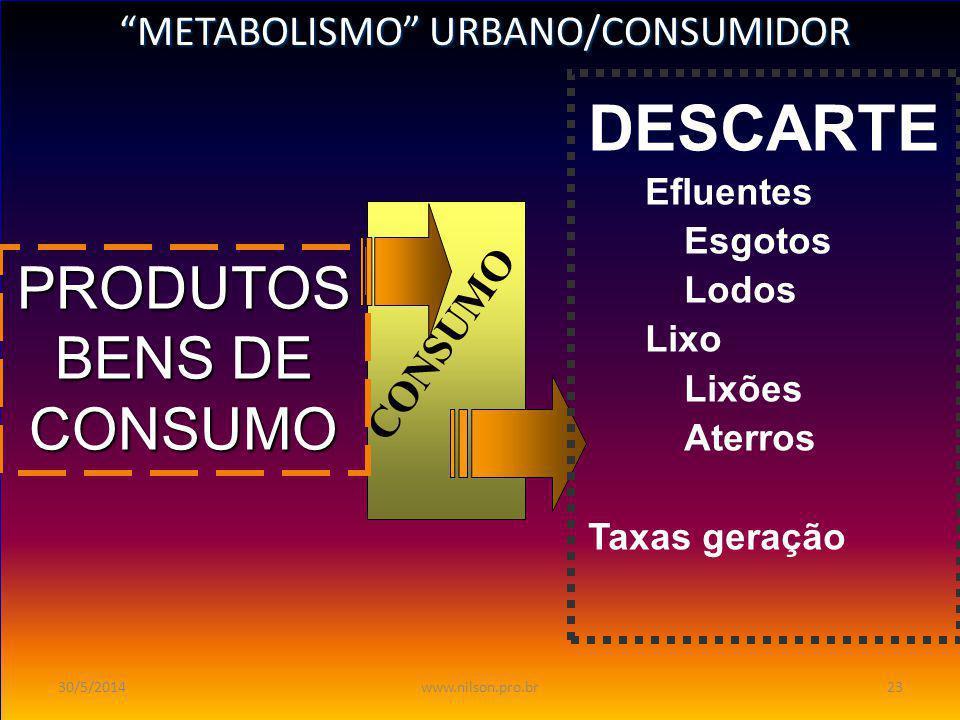 METABOLISMO INDUSTRIAL METABOLISMO INDUSTRIAL PROCESSOS Matérias-Primas Produtos Auxiliares ÁguaArEnergia PRODUTO Lucro EFLUENTES LIQUIDO SOLIDO (RSO)