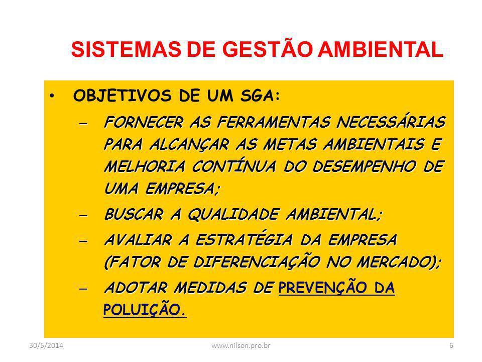 Prof. Nilson Rosa de Faria www.nilson.pro.br 30/5/201466www.nilson.pro.br