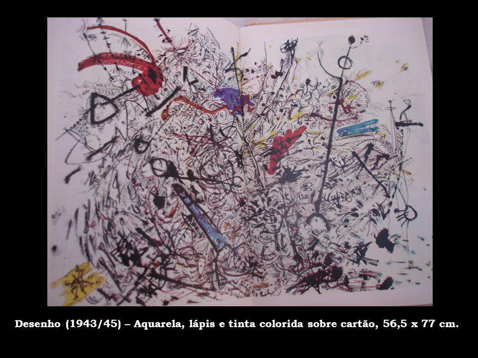 Técnica de Pintura Em 1949, Pollock adota a técnica de Dripping, em que escorre diretamente do balde as cores sobre a tela.
