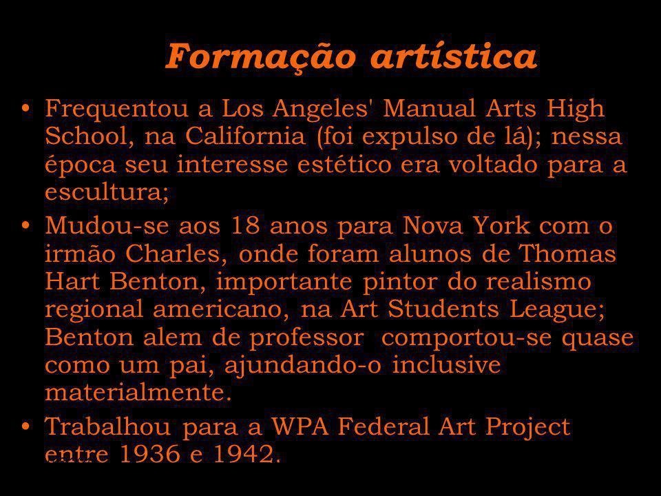Formação artística Frequentou a Los Angeles' Manual Arts High School, na California (foi expulso de lá); nessa época seu interesse estético era voltad