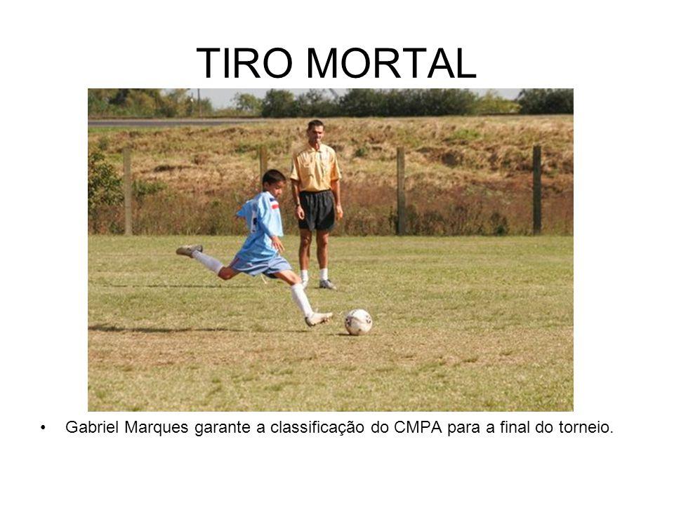 TIRO MORTAL Gabriel Marques garante a classificação do CMPA para a final do torneio.
