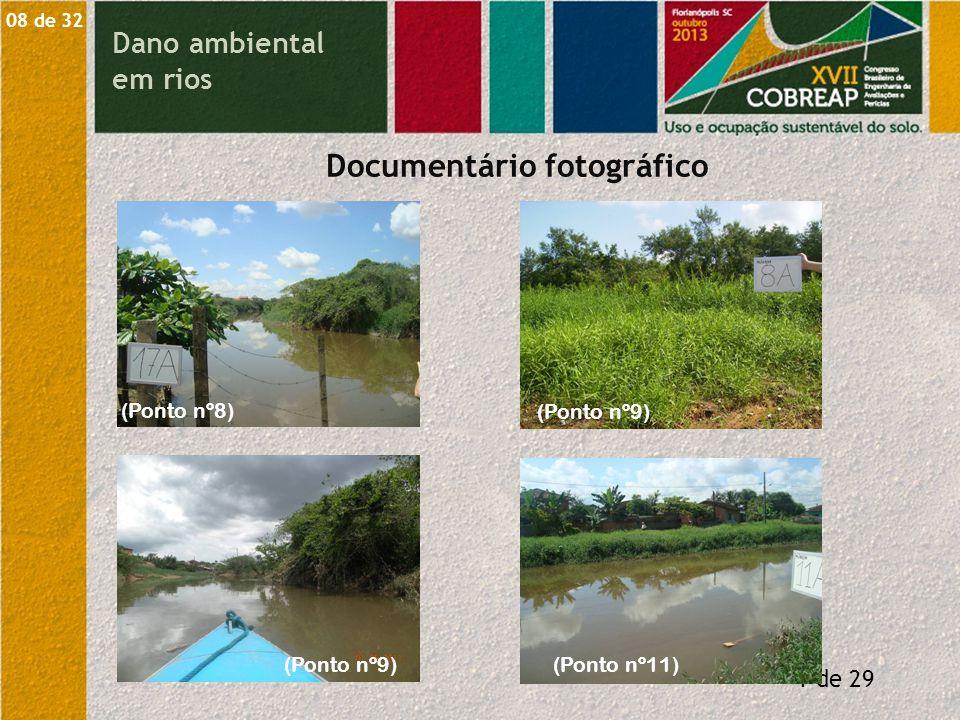 Dano ambiental em rios O valor de mercado dos serviços de uma escavadeira V = 7.566,56 m³.