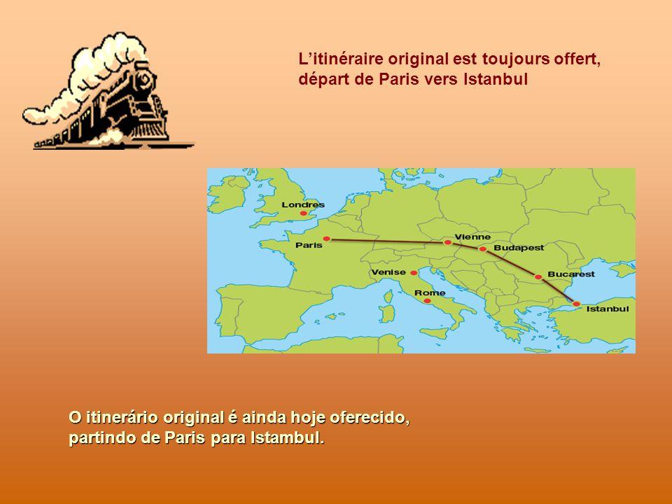 VOYAGE AUX FRONTIÈRES DE LEUROPE Plusieurs itinéraires sont proposés par la compagnie, depuis Londres, jusquà Istanbul ou Rome.